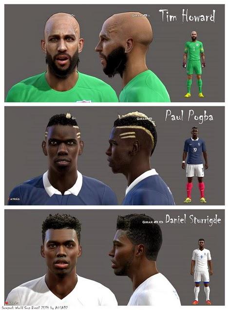 PES 2013 Facepack World Cup Brasil 2014 V.2.0 By Ausa92