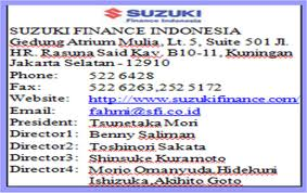 Lowongan Kerja Bekasi PT.Suzuki Finance Indonesia Agustus 2013
