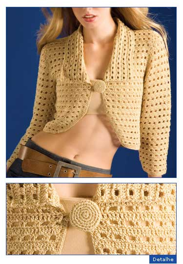 free knitting pattern: free new crochet bolero models
