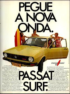 propaganda Passat Surf - 1978. propaganda anos 70. propaganda carros anos 70. reclame anos 70. Oswaldo Hernandez.
