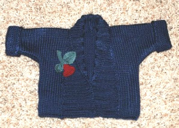 Marzipanknits Debbie Bliss Ribbed Baby Jacket Converted To Machine