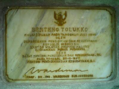 benteng Tolukko atau Santo Lucas Ternate