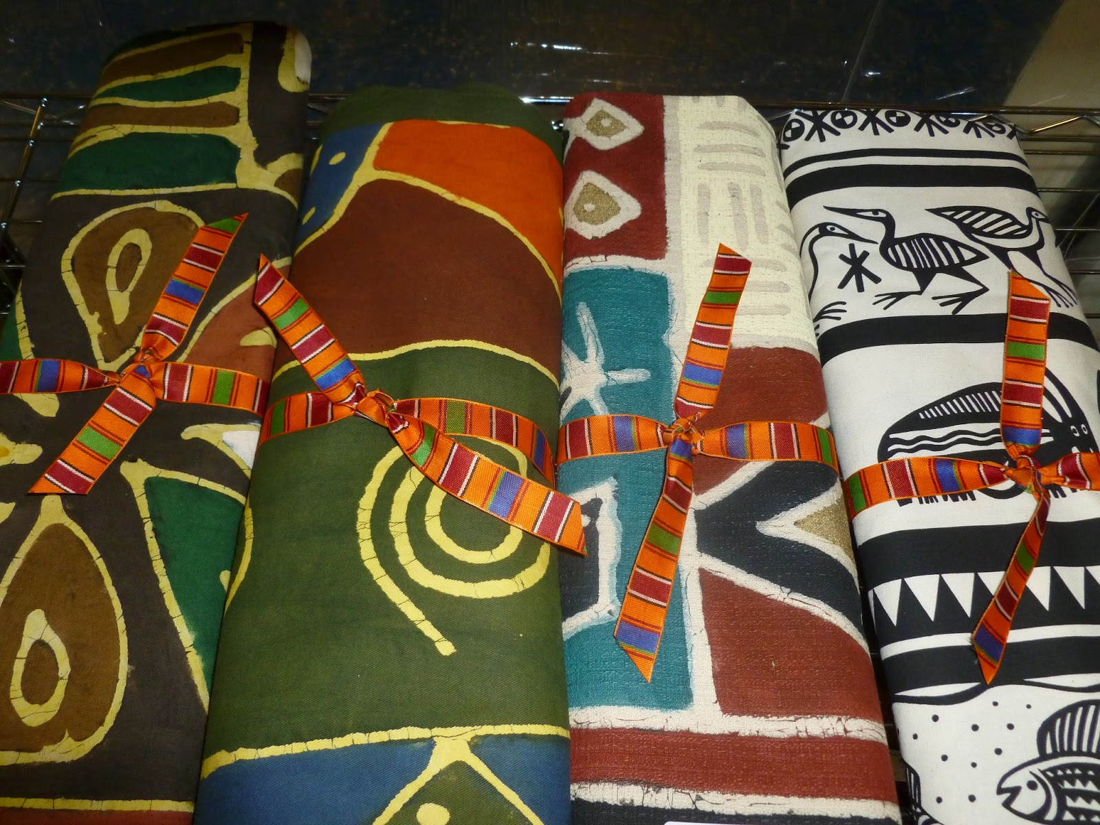 High Quality South African Hand Painted Tablecloths And Wall Hangings.
