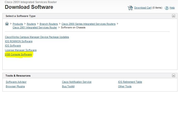 cisco usb console cable driver windows 7 32 bit