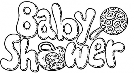 Drawing Letters Coloring Baby Shower Child Coloring