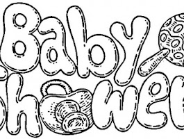 Baby Shower Themed Coloring Pages