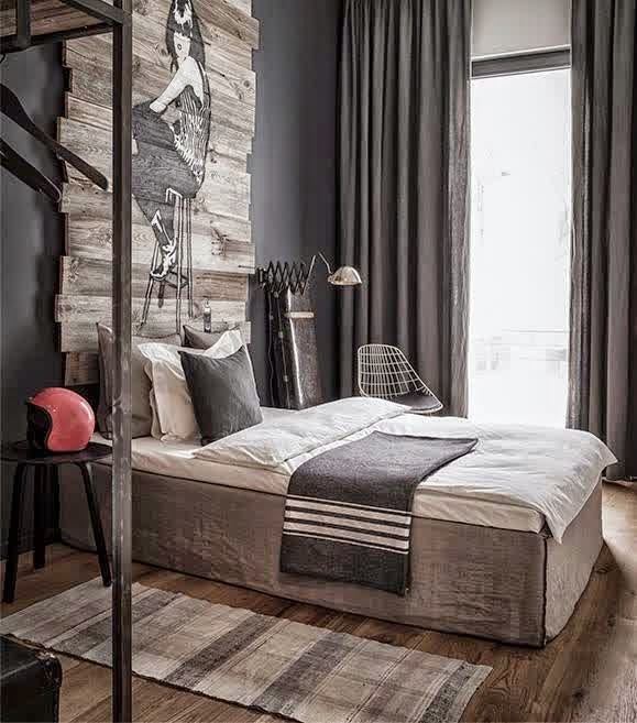 masculine decorating styles decor cool bedroom interior navy bright gray