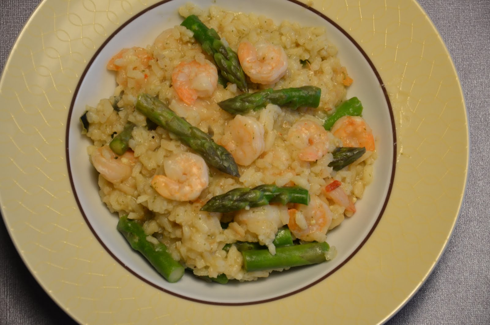 Risotto With Shrimp And Asparagus Recipe — Dishmaps