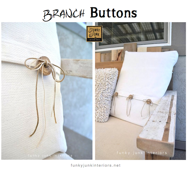 branch buttons Funky Junk Interiors