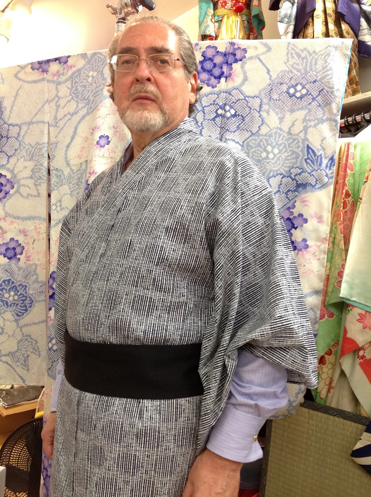 Mens washable kimono bathrobe from Kimono House New York City