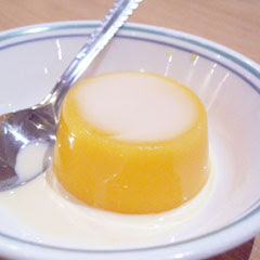 Mango pudding menus for dim sum