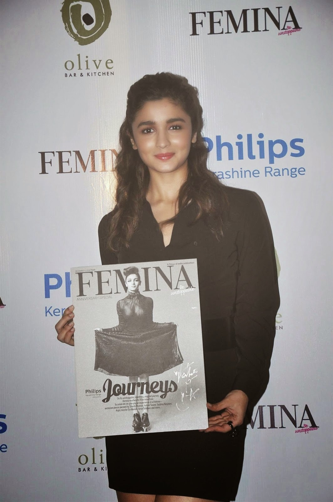 Alia Bhatt launched the cover page of Femina Magazine's 55th anniversary issue