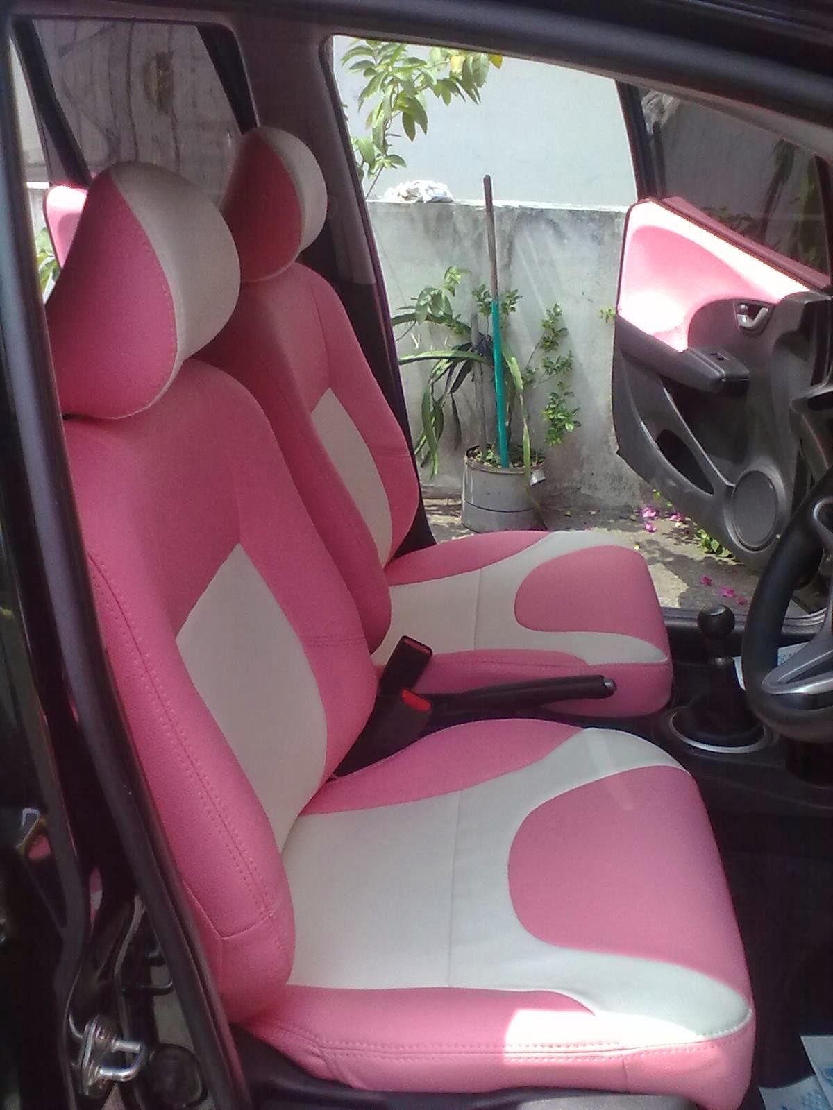 Modif Jok Mobil Honda Brio Warna Merah Gambar Foto Terbaru