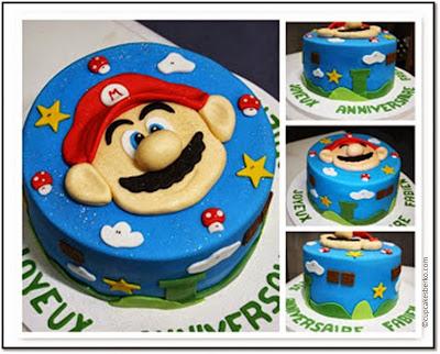 Berko cake gateau anniversaire Super Mario Bros