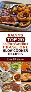 Kalyn's Top 20 South Beach Diet Phase One Slow Cooker Recipes found on KalynsKitchen.com
