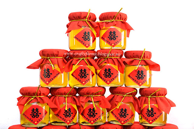 Traditional Chinese Wedding Honey Jar Favour