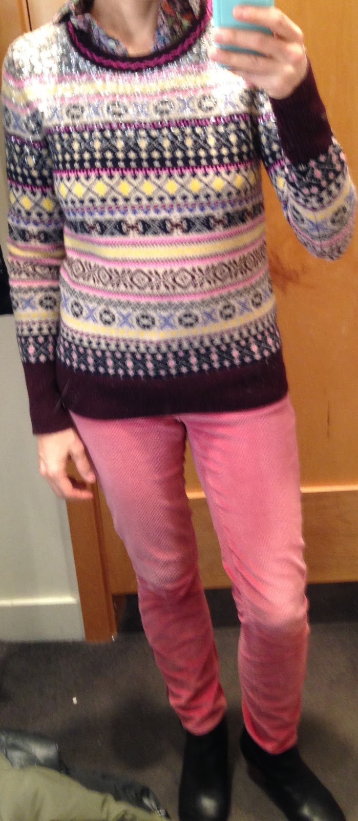 ShOperaRach: J. Crew Reviews: Sequin Fair Isle Sweater, Edged-Lace ...
