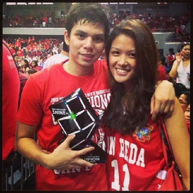 SBC Red Lions player Dan Sara with his girlfriend Dang Baltazar