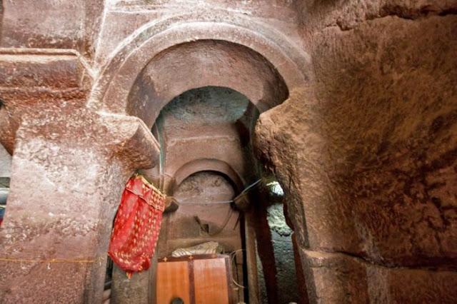Iglesias talladas en la roca Lalibela, Etiopía