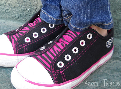 pink and black zebra shoes