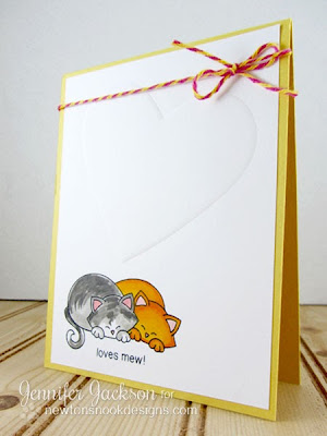 Loves mew cat card for Newton's Nook Designs