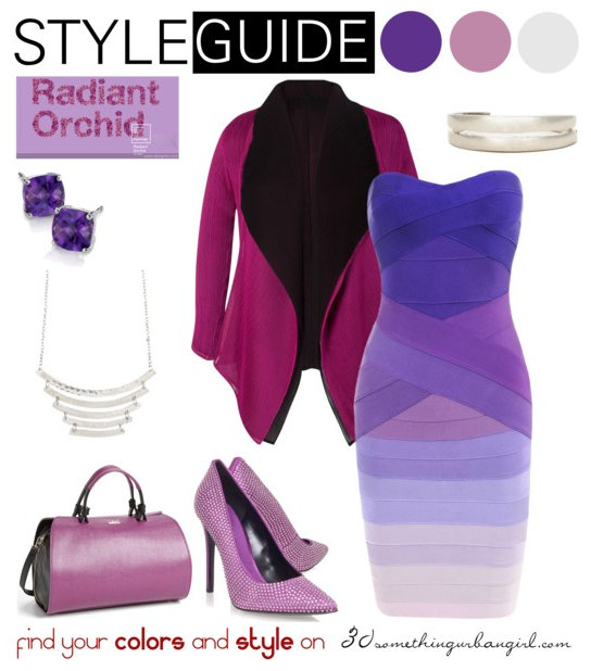 chic and elegant outfit idea with Radiant Orchid for Cool Summer