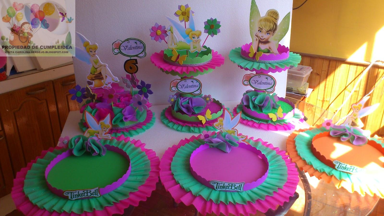 Centros de mesa tinkerbell parte 2 - Decoracion cumpleanos infantiles manualidades ...