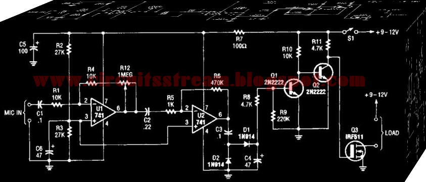 simple audio controlled switch wiring diagram schematic diy