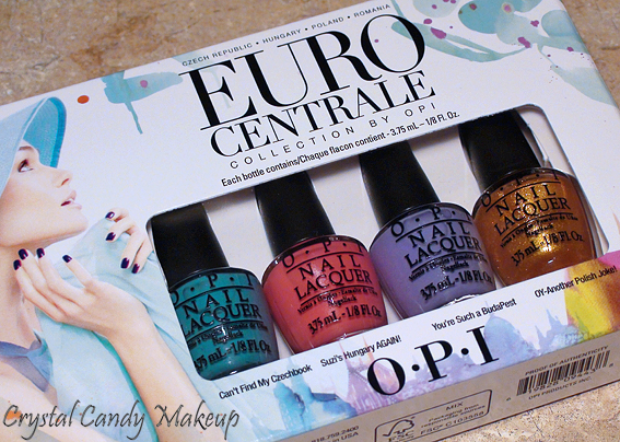 Collection Euro Centrale OPI - Can't Find My Czechbook, Suzi's Hungary Again, You're Such a BudaPest et Oy-Another Polish Joke.