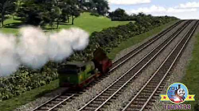 Sodor railway cargo wagon Calliope rattled and rolled along Thomas & friends Percy train engine
