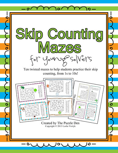 Skip Counting Mazes for Young Solvers