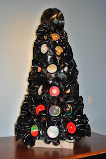 artesanato com discos de vinil reciclados