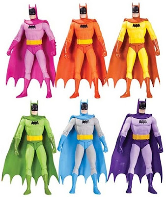 Rainbow Batman Action Figure 6 Pack by DC Comics