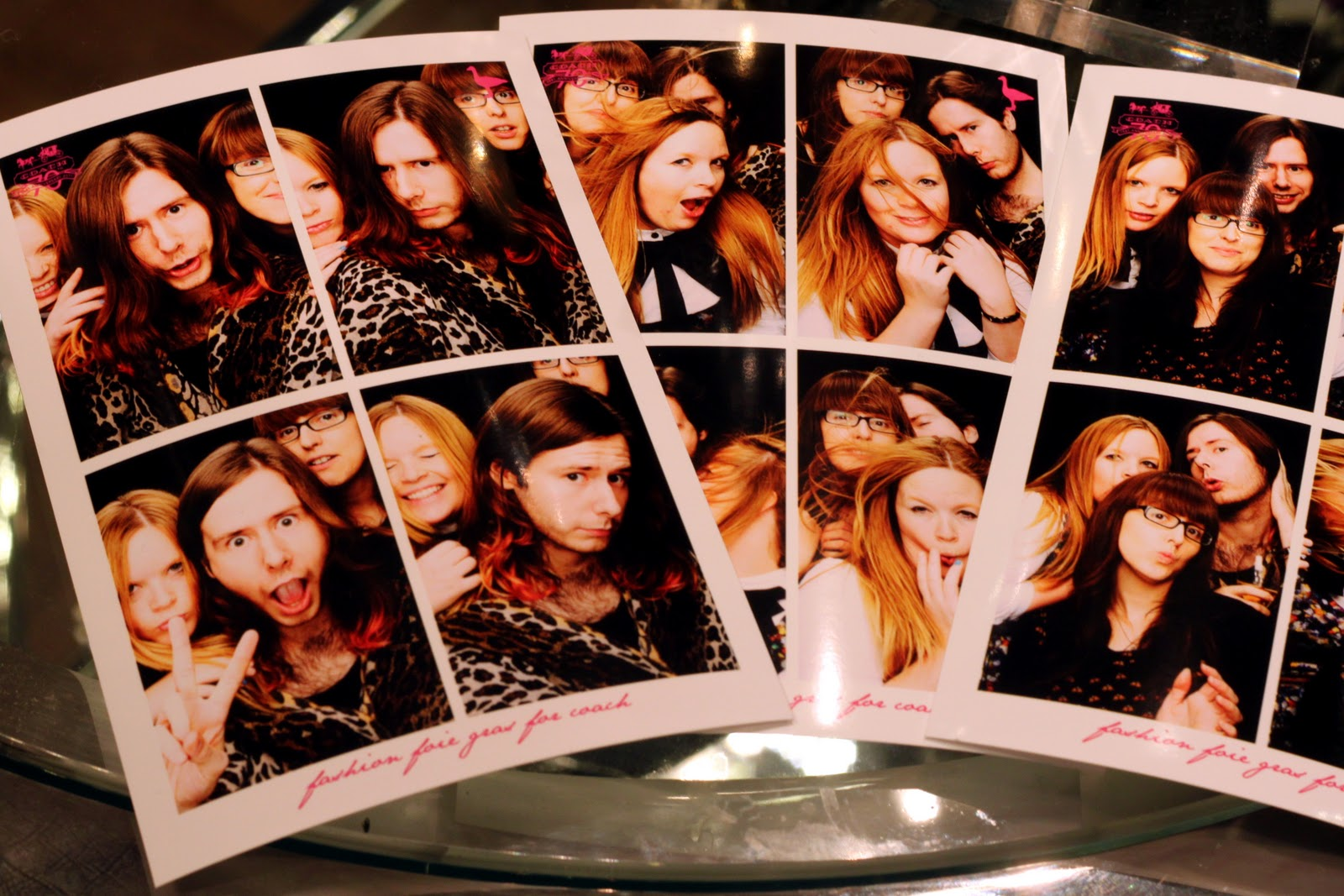 Anastasia Duck, Alex Loves and Fashionista Barbie in photobooth pictures