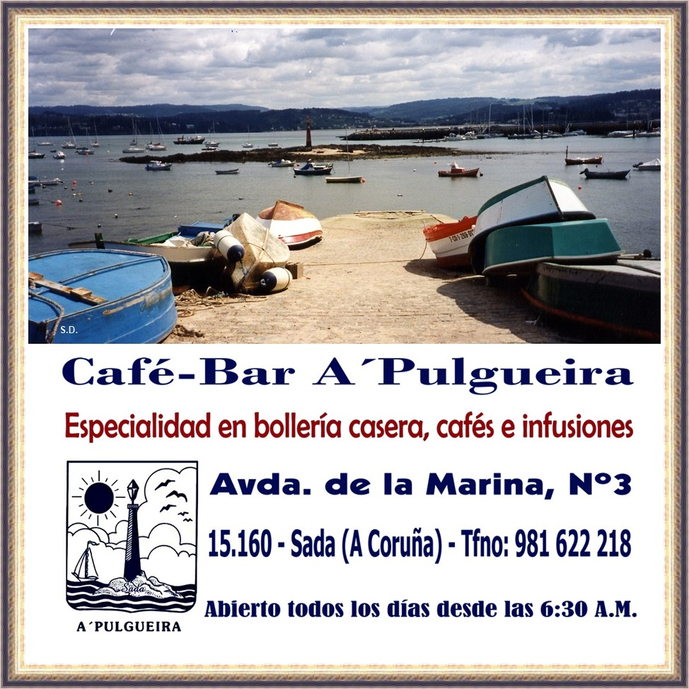 HORARIO DE APERTURA CAFÉ-BAR A´PULGUEIRA