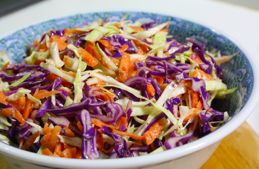 Coleslaw Coleslaw with miso dressing