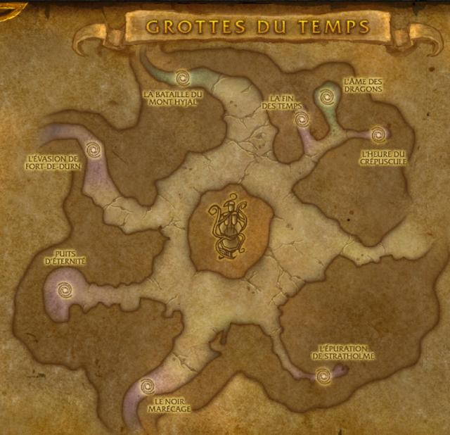 Instances et raids dans les grottes du temps