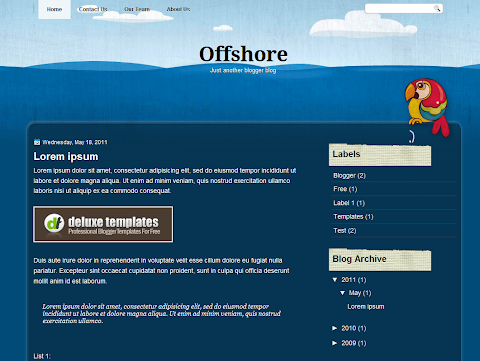 Offshore Blogger Theme
