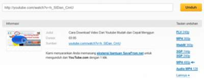 Cara Download Youtube Tanpa Software Terbaru