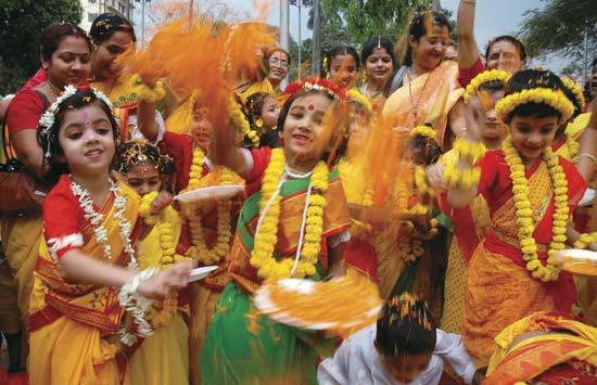 FESTA INDIAN HOLI NA ÍNDIA