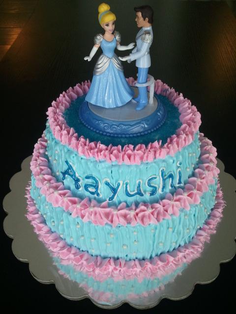 Cake Images With Name Gauri : Princesses Cinderella & Prince Theme Cake Cakes By Gauri ...