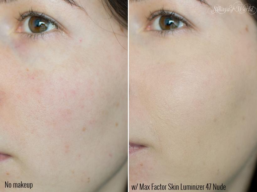 max factor skin luminizer aplicat pe ten