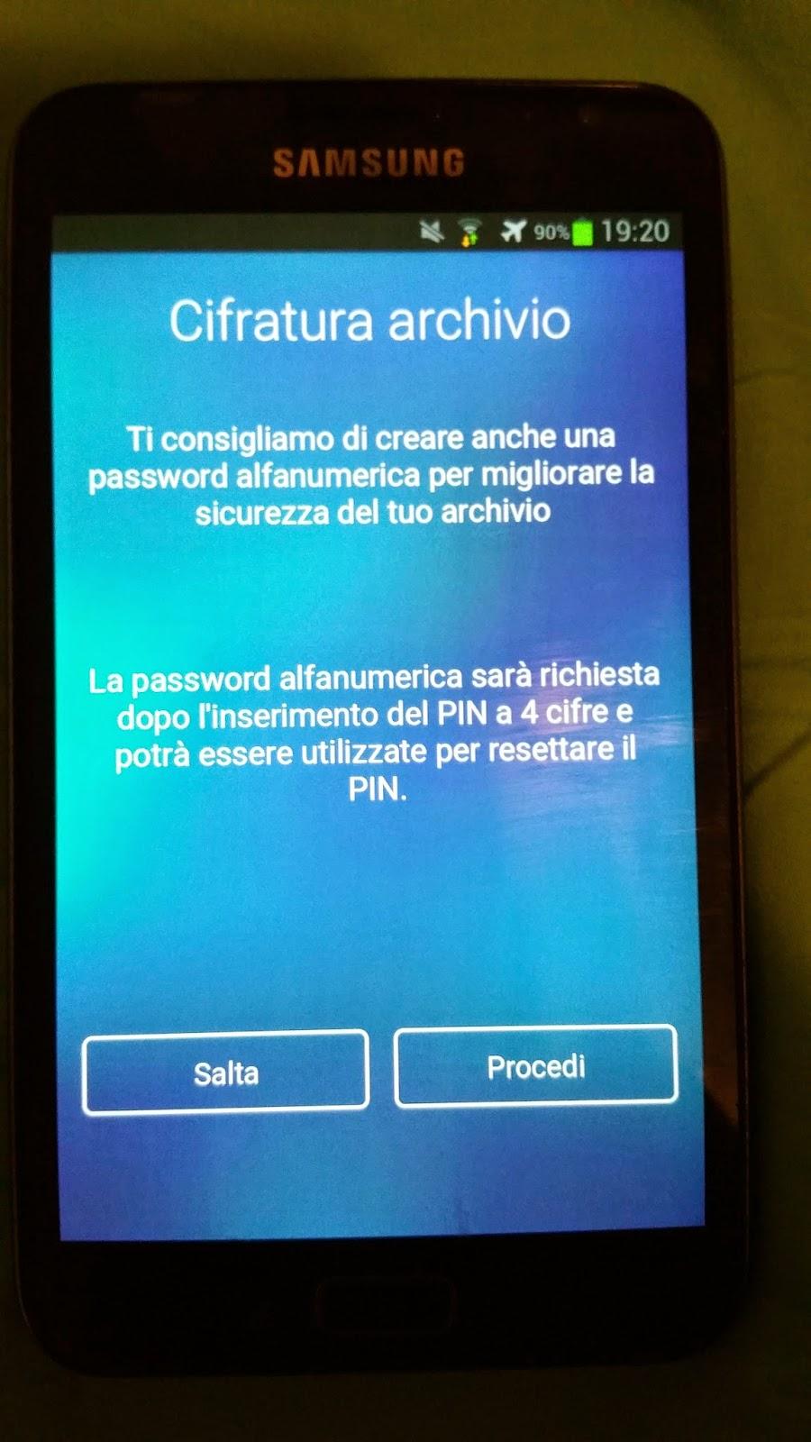 schermata per inserire anche una password di sicurezza ulteriore in kyms
