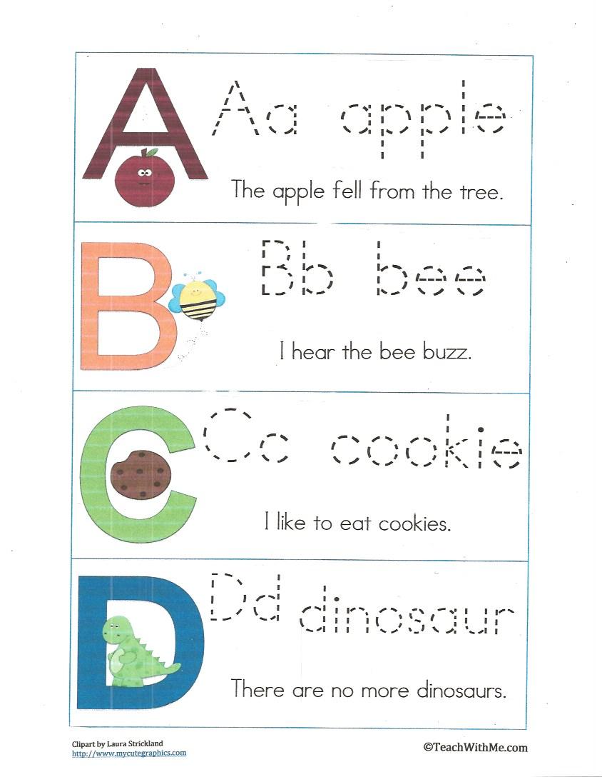 Classroom Freebies: Alphabet Activities