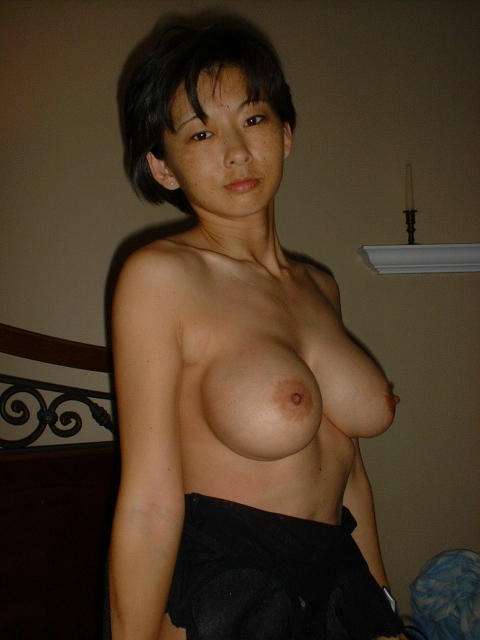 Cute asian huge tits