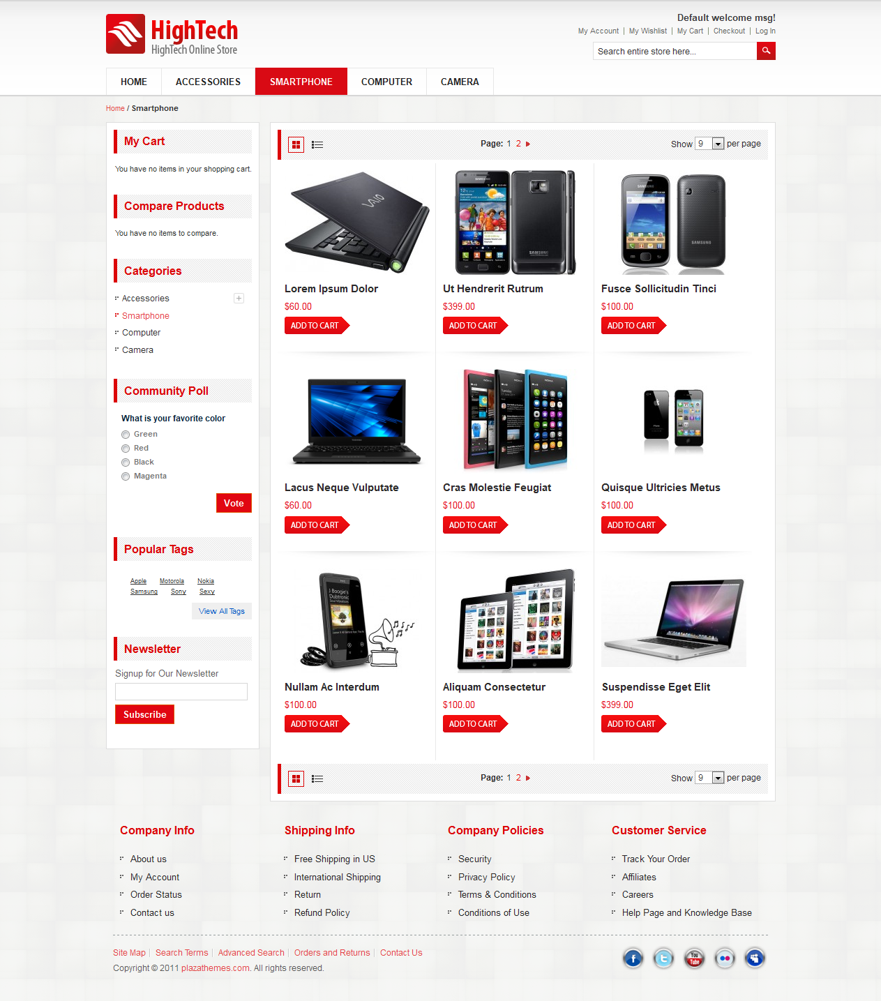 Hightech Store Magento Ecommerce  - Ecommerce Magento Premium Theme