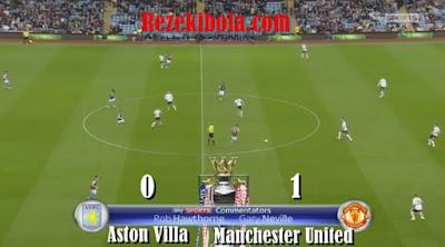 Setan Merah MU menundukkan Aston Villa 1 - 0 di Liga Premier Inggris Rezekibola.com