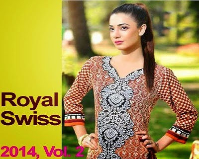 Swiss Lawn Dresses with Silk Dupatta
