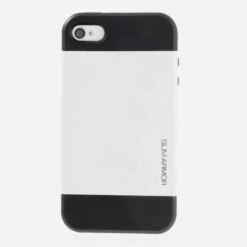 SGP Slim Armor TPU & PC Hybrid Case for iPhone 4 4S - White