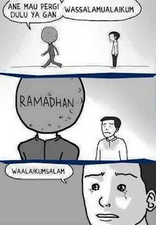 Sedih Bulan Ramadhan Telah Pergi
